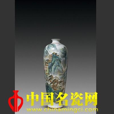 杨德贵 火狐体育手机官网山水梅瓶
