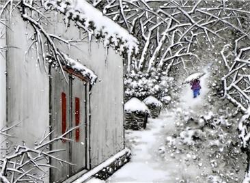 余氏雪景 | 素心若雪梅花下,香魂自在苦寒中